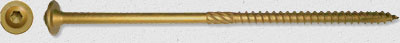 Bronze Star Exterior Star Drive AC257 Compliant Construction Lag Screws