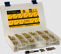 bronze star coated screws assortment kit