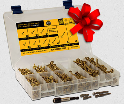 Holiday Gift Ideas Star Drive Wood Screw Assortment Kits